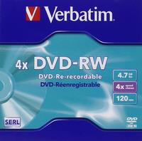 Verbatim DVD-RW/4.7GB 4x Advanced AZO Jewel Case 5-Pack