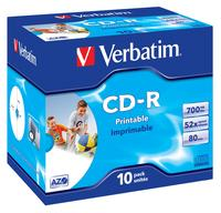 CD-R/700MB 80Min 52x SupAZO JC 10pk Prt