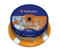 DVD-R/4.7GB 16x AdvAZO Spdl 25pk WidePrt