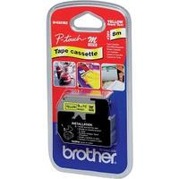 Brother MK 621BZ Thermal Label - 9 mm Width x 8 m Length - Black, Yellow
