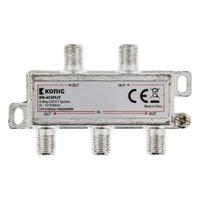 4-way CATV F splitter 5 - 1218 MHz