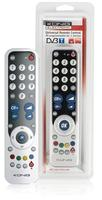 Universal remote control PC-programmable for 2 devices