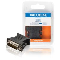 DVI adapter DVI-I 24 + 5-pin male - VGA female black