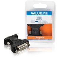 DVI adapter VGA male - DVI-I 24 + 5-pin female black