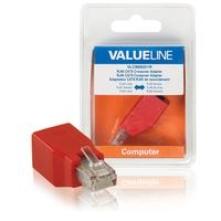 Network adapter RJ45 male - RJ45 female red