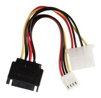 Internal power adapter cable SATA 15-pin male - Molex female + FDD female 0.15 m multicolour