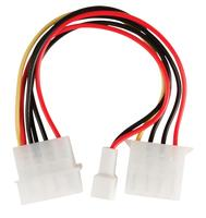 Valueline Molex M - Molex F + 3-pins fan power 0,15 m
