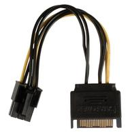 Internal power adapter cable PCI Express female - SATA 15-pin male 0.15 m multicolour