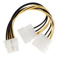 Internal power splitter cable EPS 8-pin - 2x Molex male 0.15 m multicolour