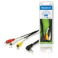 3.5 mm jack AV cable male - 3x RCA male 1.00 m black
