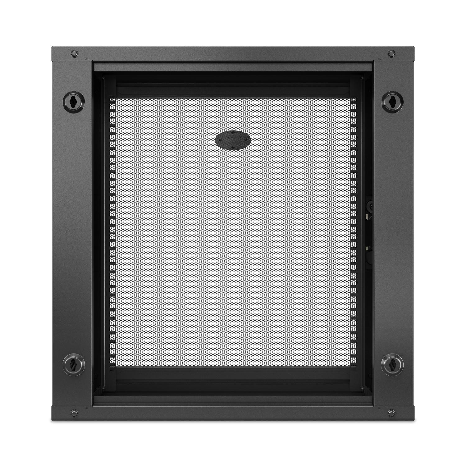 NetShelter WX 12U Single Hinged Wall-mount Enclosure