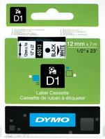 Dymo Tape/12mmx7m black white Type D1