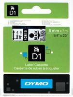 Dymo Tape/12mmx7m black transparent