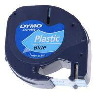 Dymo Tape/Plastic Blue 12mx4mm f LetraTag