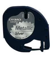Dymo Tape/Metal Silver 12mx4mm f LetraTag