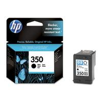 HP 350 originele ink cartridge zwart low capacity 4.5ml 200 paginas 1-pack
