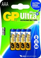 GP Batterij alkaline AAA/LR03 1.5 V Ultra Plus 4-blister