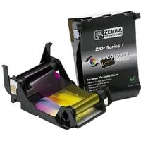 ZEBRA Ribbon, YMCKO, for up to 100 plastic cards, fits for Zebra ZXP Series 1