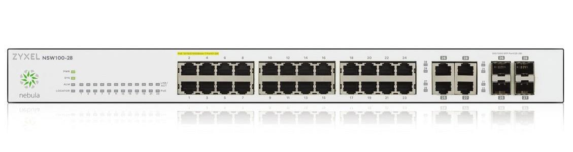 ZyXEL NSW100-28 Cloud 24-poorts Managed SFP Gigabit