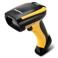 DATALOGIC ADC handheld scanner, 1D, linear imager, Green Spot, 3GL, multi-interface (RS232, KBW, USB), IP65, incl.: cable (USB, type A, coiled, 2,5 m), colour: black, yellow