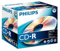 Philips CD-R 80Min 700MB 52x JC (10)