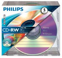 Philips CD-RW 80Min 700MB 4-12x SL Co(5)