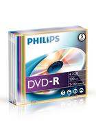 Philips DVD-R 4,7GB 16x Slim Color (5)