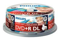 Philips 25 x DVD+R DL, 8.5GB/240min 8x