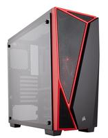 Carbide SPEC-04 Mid-Tower Tempered Glass Gaming Case Black/Red