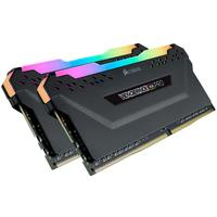 DDR4  3200MHz 32GB 2 x 288 DIMM  Unbuffered  16-18-18-36  Vengeance RGB PRO black Heat spreader  RGB LED  1.35V  XMP 2.0