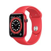 Apple Watch Series 6 (44mm) Rood Aluminium Rood Sport Band