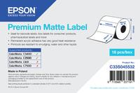 Prem Matte Lbl Die-cut Roll 102mm x 76mm, 440 labels / roll