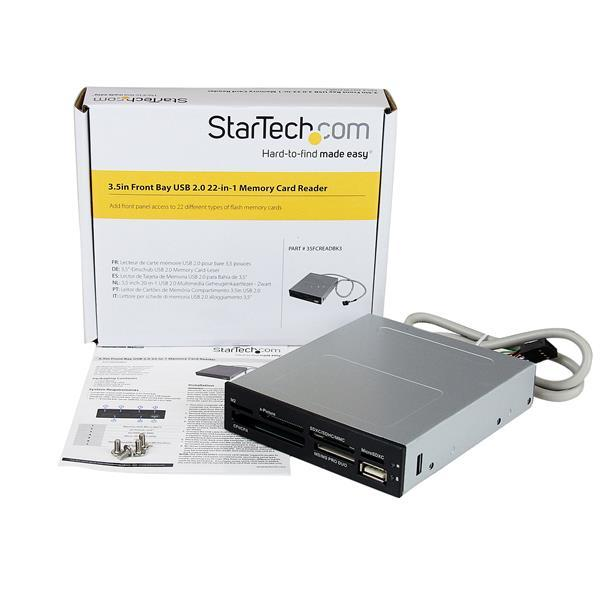StarTech Interne USB 2.0 multimedia kaartlezer 3,5""