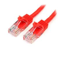 StarTech 60 cm Snagless Cat5e patch kabel rood
